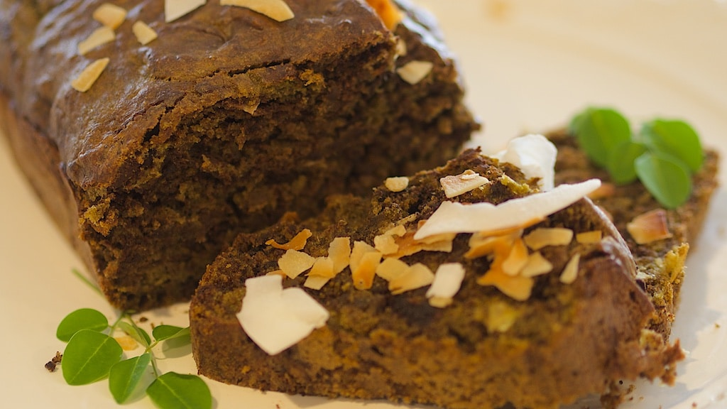 Chocolate Coconut Banana Bread with Moringa