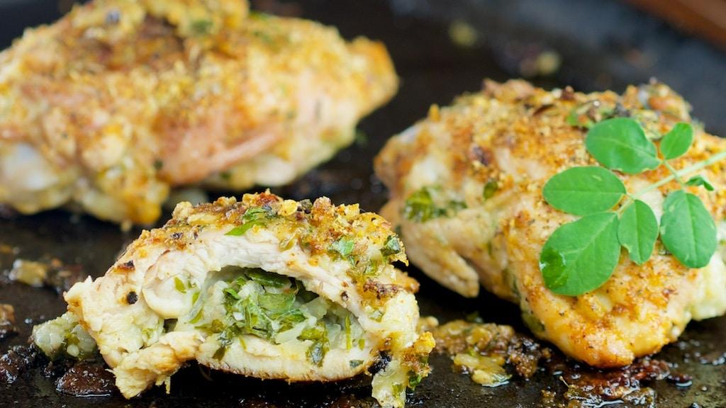 Moringa Stuffed Chicken: Cajun and PepperJack