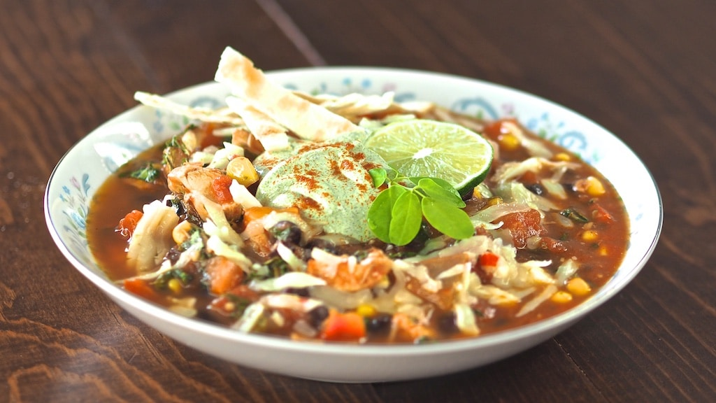 Moringa Chicken Tortilla Soup