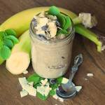 Moringa Overnight Oats: Creamy Chocolate Coconut Peanut Swirl