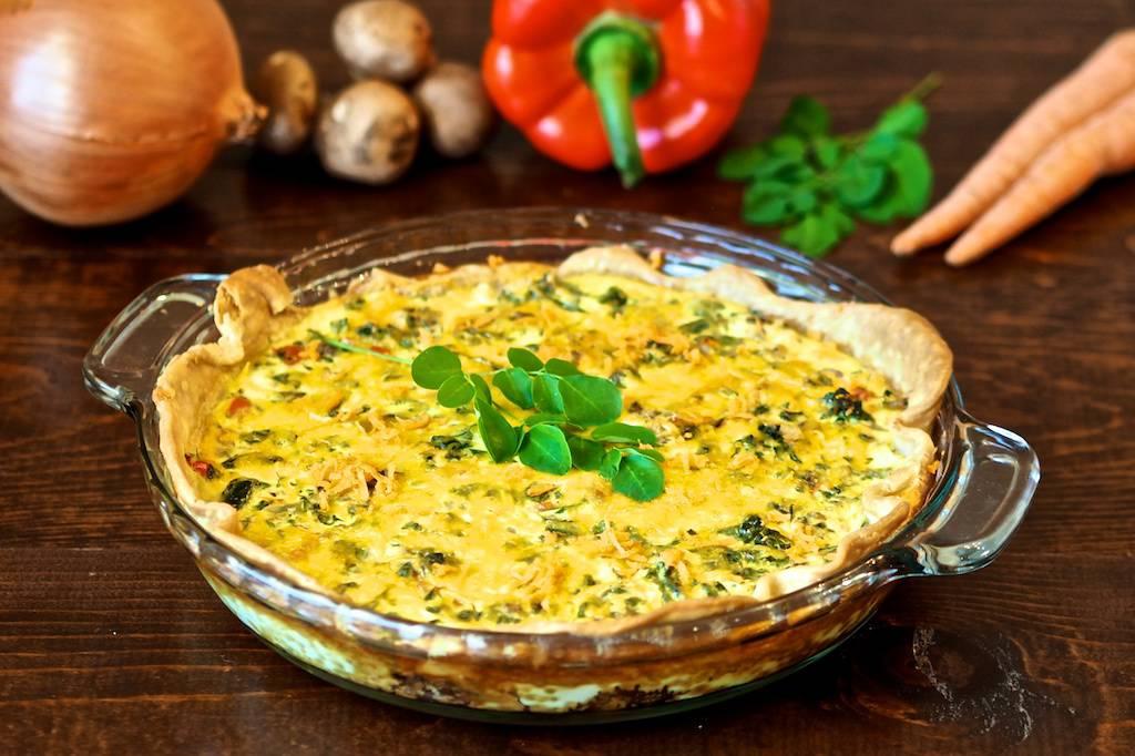 Moringa Quiche: Feta Vegetable Quiche