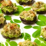 Moringa Stuffed Mushrooms