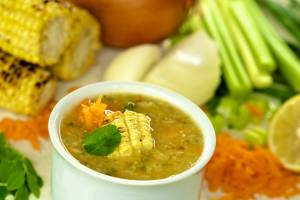Moringa Chicken Corn Soup