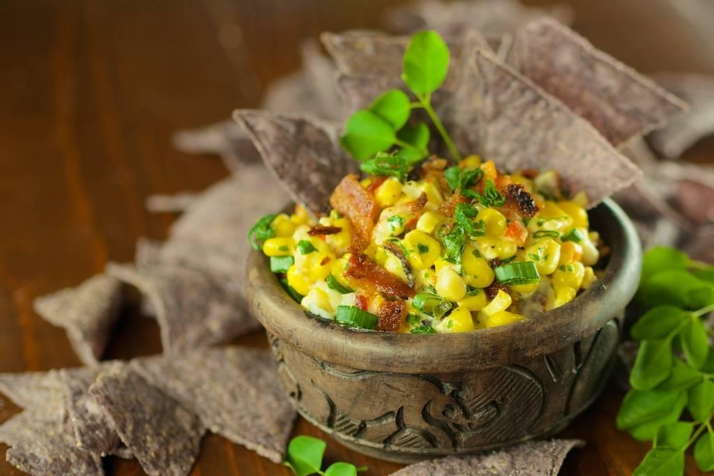 Moringa Cheesy Bacon Jalapeno Corn Dip