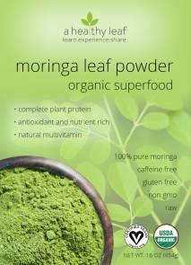 moringa powder front label