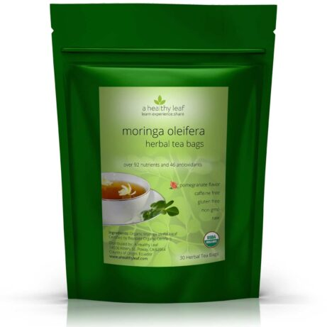 Certified Organic Moringa Tea Pomegranate
