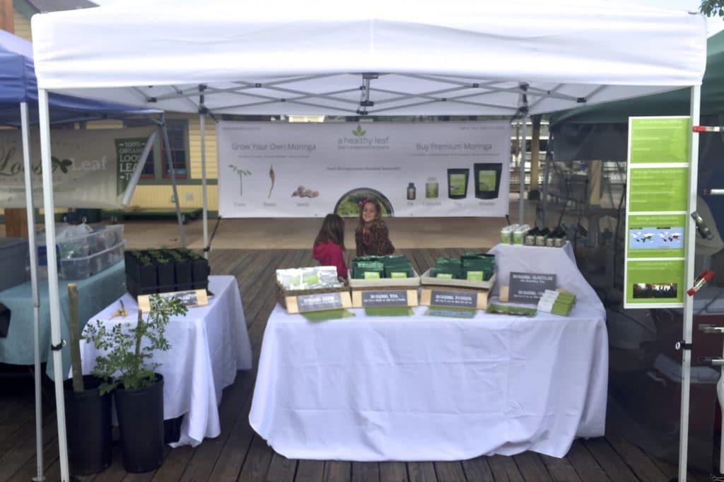 Selling Moringa At The Poway Farms Market