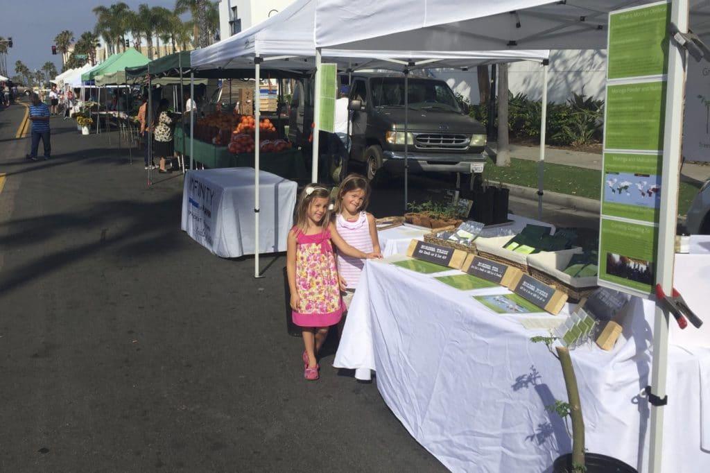 Selling Moringa At Ocean Side Farmer Market