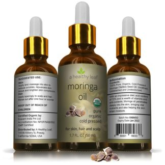 Moringa Oil Certified Organic 1.7oz