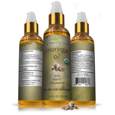 Moringa Oil Certified Organic 3.4oz
